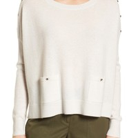 Nordstrom Signature Button Detail Cashmere Sweater | Nordstrom