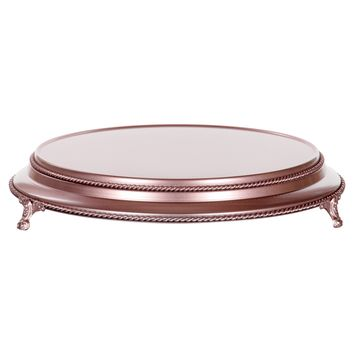 16 Inch Round Wedding Cake Stand Plateau (Rose Gold)