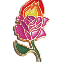 'Rose On Fire' Pin