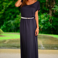 T-shirt Maxi Dress, Dark Grey