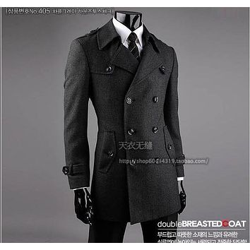 New arrival fashion casual Mens Coat Men high quality winter autumn Slim Jacket Double-breasted overcoat plus Size S-8XL9XL10XL