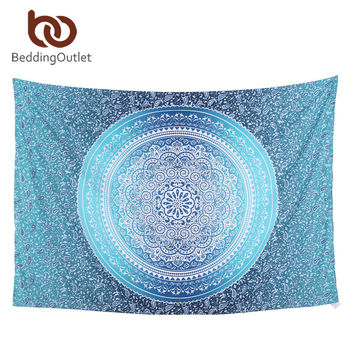 Blue Geometric Bohemian Home Decor Large Mandala Wall Hanging Tapestry Wall Art