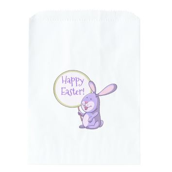 Lavender Pink Purple Bunny Holding Board Favor Bag
