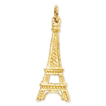 14k Yellow or White Gold Eiffel Tower Charm