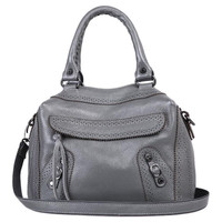 Lixmee motercycle zippered women shoulder bag