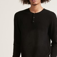 Button-Front Sweater