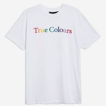 'True Colours' Boyfriend T-Shirt by And Finally - Clothing