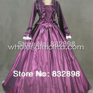 Customizable Purple Civil War Victorian Ball Gown Dress /Steampunk Dress /Cosplay Costom