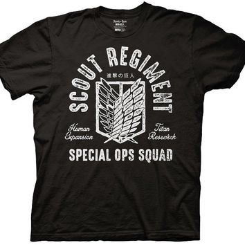 Cool Attack on Titan 2018 New Mens  Scout Regiment Special Ops Squad T-Shirt  Tee  Shirts AT_90_11