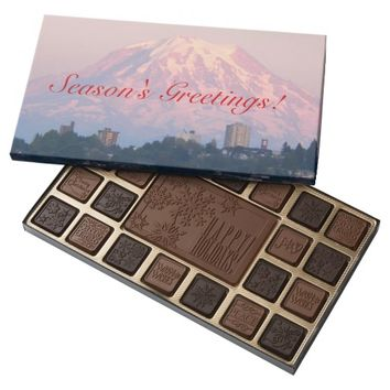 Pacific Northwest Mountain Photo Holiday 45 Piece Box Of Chocolates