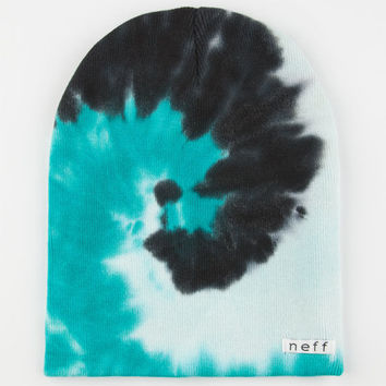 Neff Hippie Tie Dye Beanie Teal Blue One Size For Men 24591124601