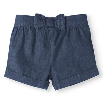Baby Girls' Solid Woven Shorts - Walmart.com