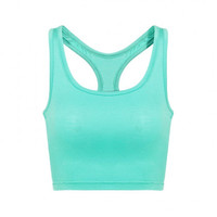 Mint  Crop Top With Scoop Neckline