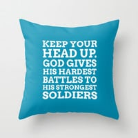 Keep your head up - COLOR7 Throw Pillow by cooledition