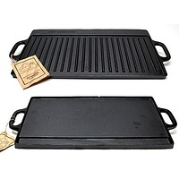 Old Mountain Cast Iron Preseasoned Two-burner Reversible GrillGriddle