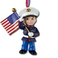 Boy in Blue Dress Uniform Ornament