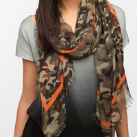 BDG Striped Camo Scarf