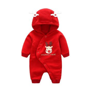 Autumn Winter Baby Clothes Long Sleeve Fleece Baby Boys Girls Romper Infant Jumpsuits Newborn Baby Christmas Gift