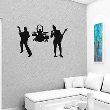ROCK BAND MUSIC WALL VINYL STICKER  DECALS ART MURAL B736