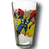 Thor Hammer Swinging Clear Pint Glass
