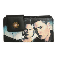 Supernatural Winchester Brothers & Castiel Flap Wallet
