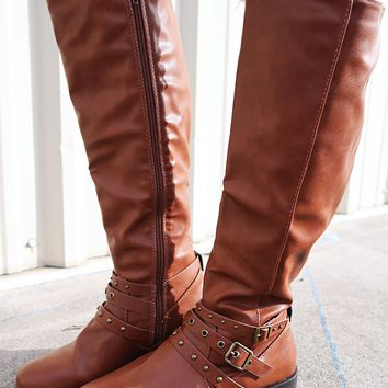 Down The Dirt Road Boots: Cognac