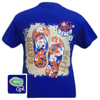 New Florida Gators Summer Time Flip Flop Girlie Bright T Shirt