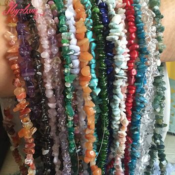 "4-6x6-8mmFluorite,Kyanite,Larimer Freeform Chip Natural Stone Beads For DIY Necklace Jewelry Making Strand 34"",Free Shipping"