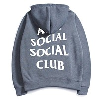 Anti Social Social Club ASSC hoodies  Men's sweater  Dark gray