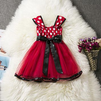 Baby Girl Infant Party Dress Little Girl Summer Frock Children's Tutu Bow Costume For Kids First 1st Birthday Christmas Outfits