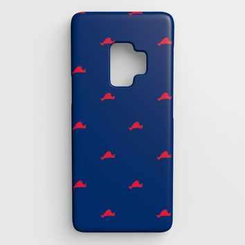 Martha's Vineyard Cell Phone Case Galaxy S9 - Red on Blue