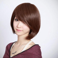 30CM short straight Cosplay Party Wig Many Colors + Wig Cap 1245