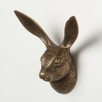 Rabbit Forestry Hook by Anthropologie in Bronze Size: One Size Hooks