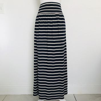 COLDWATER CREEK Women's Plus Size XL 16 Stripped Maxi Skirt