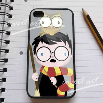 cute harry potter and owl iPhone 4 / 4S / 5 / 5c /  5s Case Samsung Galaxy S3 / S4 Case