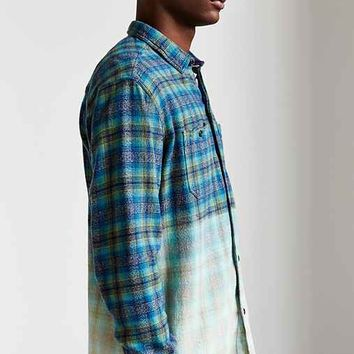 Koto Bleach-Dye Plaid Button-Down Shirt-