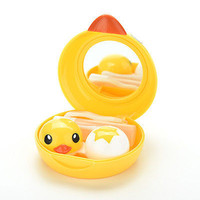 Contact Lenses Lens Case Holder Box Portable Travel Kit Set  Cute Yellow Duck