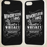Supernatural winchesters whiskey F0018 iPhone 4S 5S 5C 6 6Plus, iPod 4 5, LG G2 G3, Sony Z2 Case