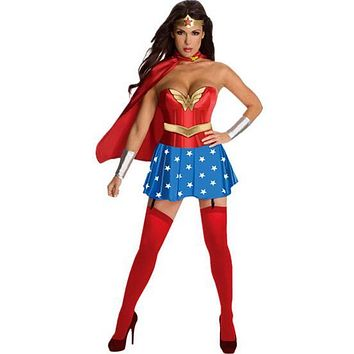 Halloween Wonder Woman Superwoman Costume Women Sexy Cosplay Fashion Fancy Party Dresses Halloween Costumes For Women Fantasias