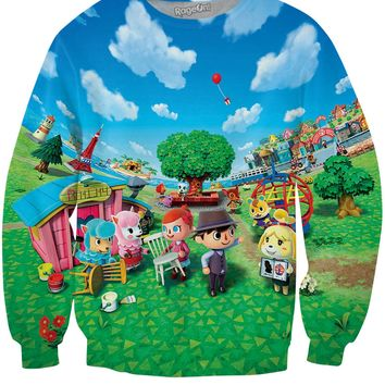 Animal Crossing New Leaf Crewneck Sweatshirt