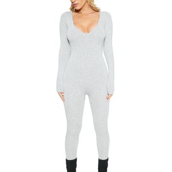 The NW All Body V-Neck Jumpsuit - New Arrivals