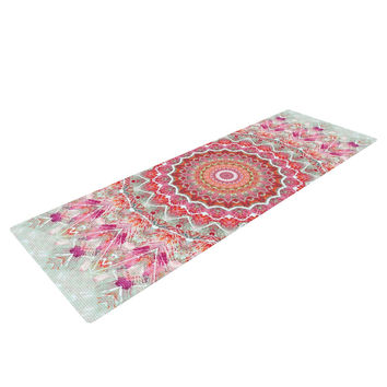 "Iris Lehnhardt ""Summer Lace III"" Circle Pink Green Yoga Mat"