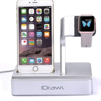 VONL8T Apple Watch Stand, Apple Watch Charger iPhone Docking Station, i-DRAWL Charging Stand Portable 3 in 1 Multifunctional Charger Dock Cradle for iWatch and all Smart Phone
