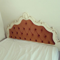 Vintage French Provincial tufted headboard