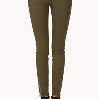 Desert Cool Zippered Skinny Jeans