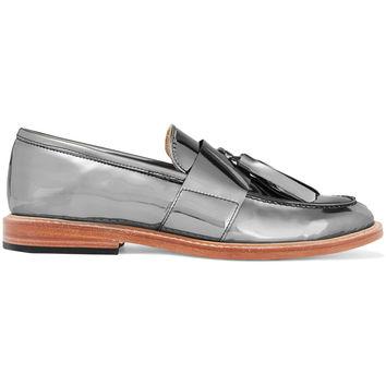 Mirrored-leather loafers | Dieppa Restrepo | UK | THE OUTNET