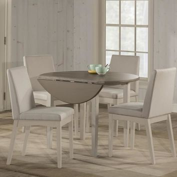Hillsdale Clarion - Dining Sets - Distressed Gray Top / Sea White Base
