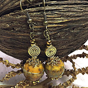 Gypsy Earring - Dangle Earring - Hippie Chic Earring - Christmas Gift - Bohemian Jewelry - Boho Chic - Ethnic Earring TDC654
