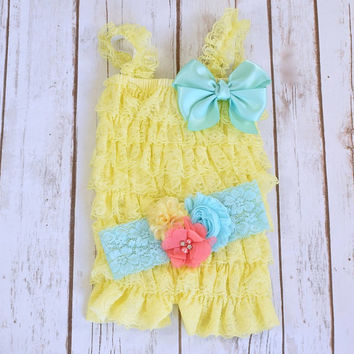 Cake Smash Outfit Girl, Yellow Romper, 1st Birthday Girl Outfit, 2nd Birthday Outfit Girl, Smash Cake Outfit, Baby Girl 1st Birthday Outfit