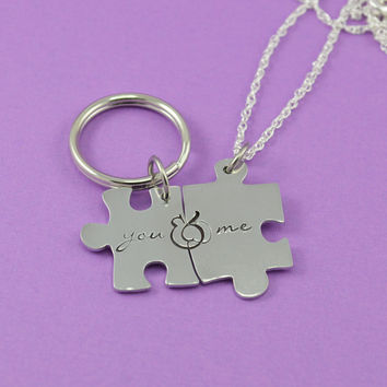 You & Me Key Chain or Necklace Set